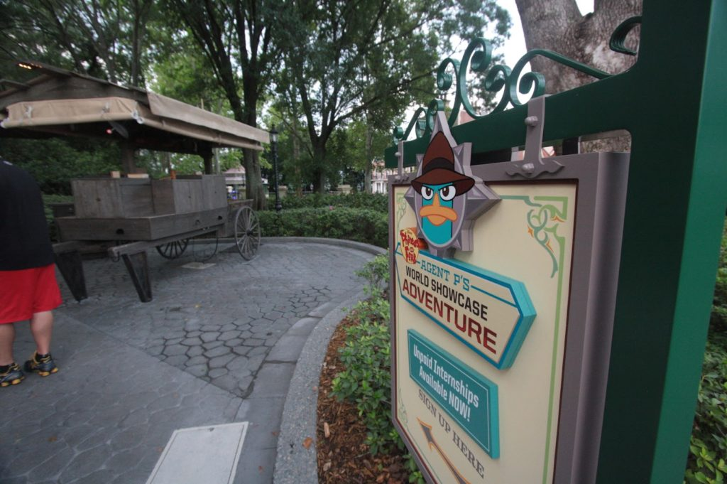 FREE Things at Disney - Agent P's World Showcase Adventure Sign Up Location in Epcot