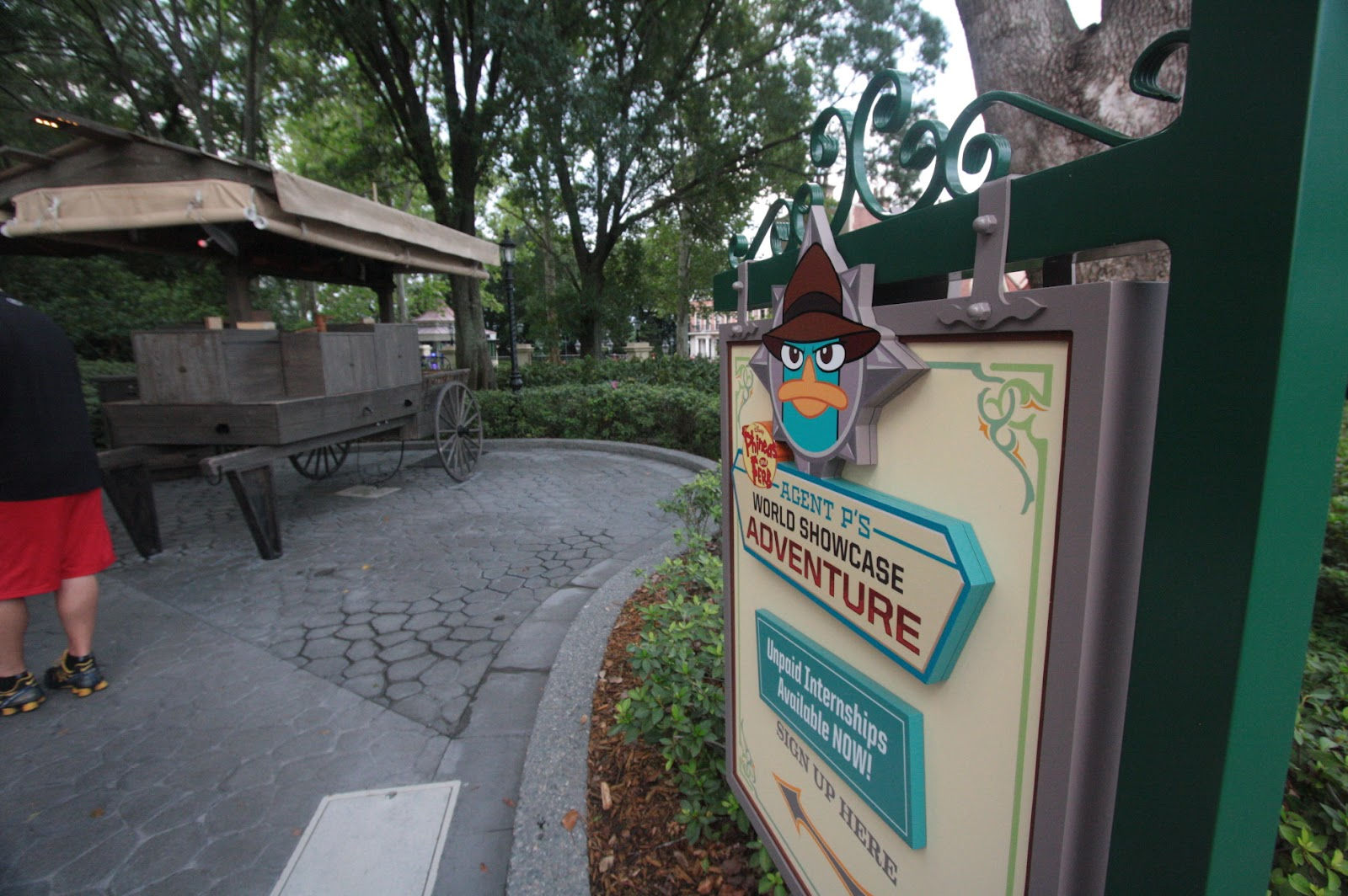 Agent P's World Showcase Adventure Sign Up Location in Epcot