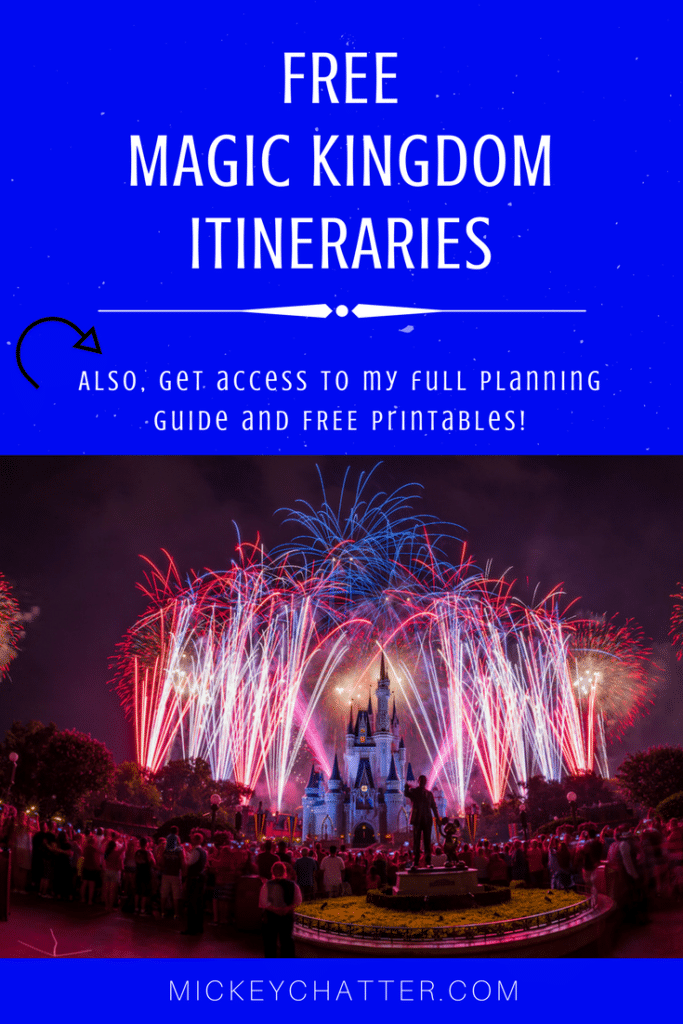 Free Magic Kingdom Itineraries to help you plan your day at Disney World's Magic Kingdom park