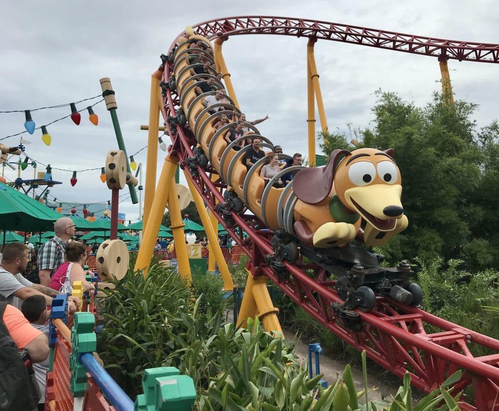 One of the must see attractions at Hollywood Studios - Slinky Dog Dash! #disneyworld #waltdisneyworld #disneyrides #disneyparks #disneytrip #disneyvacation #travelagent #disneyfun #disneyplanning