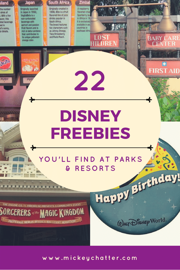 22 Disney World Freebies you'll find at the parks and resorts, don't miss out!!! #disneyworld #disneyvacation #waltdisneyworld #disneytrip #disneytravel