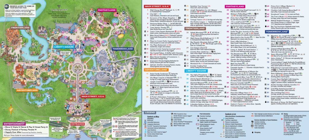 Disney Magic Kingdom Map