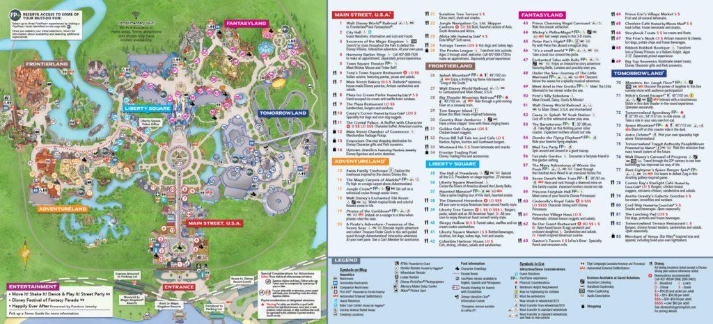 Disney Magic Kingdom Map