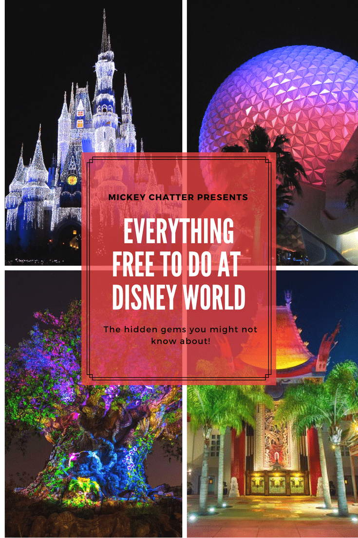 Free things to do at Disney! All the free things to do in the parks that you may not know about. Find out what you can do for free at Magic Kingdom, Epcot, Hollywood Studios and Animal Kingdom!