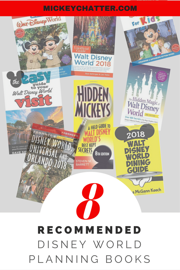 The top recommended Disney planning books to help you plan your Disney World vacation!