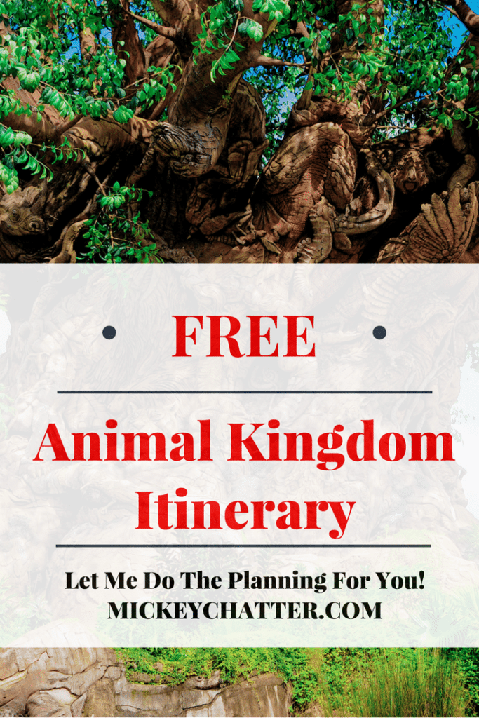 Get your FREE Disney World Animal Kingdom Itinerary
