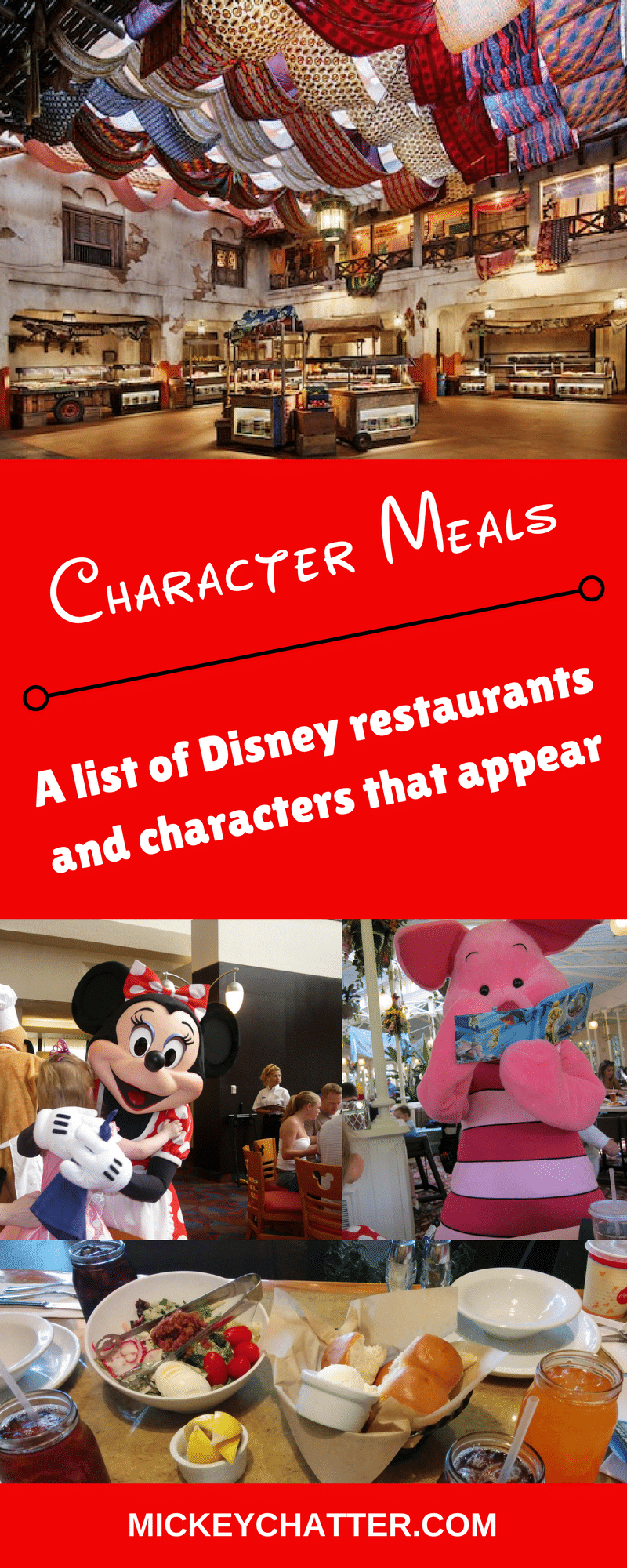 A list of all the character meals and characters that appear at Disney World