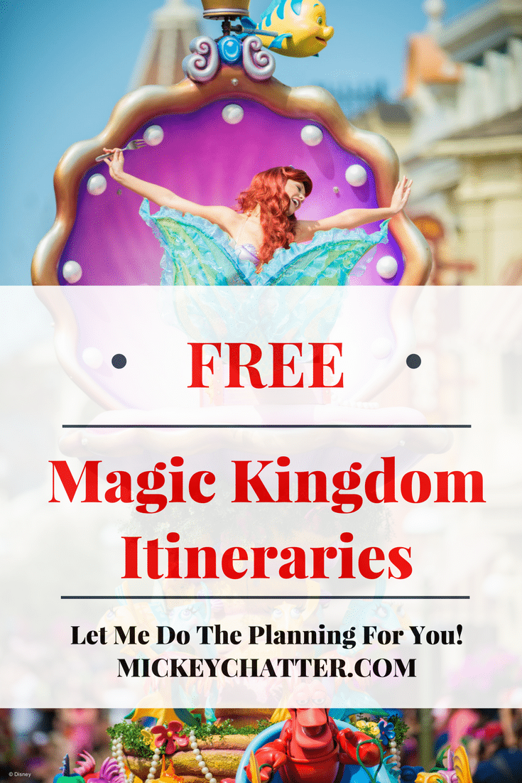 Get your FREE Disney World Magic Kingdom Itineraries