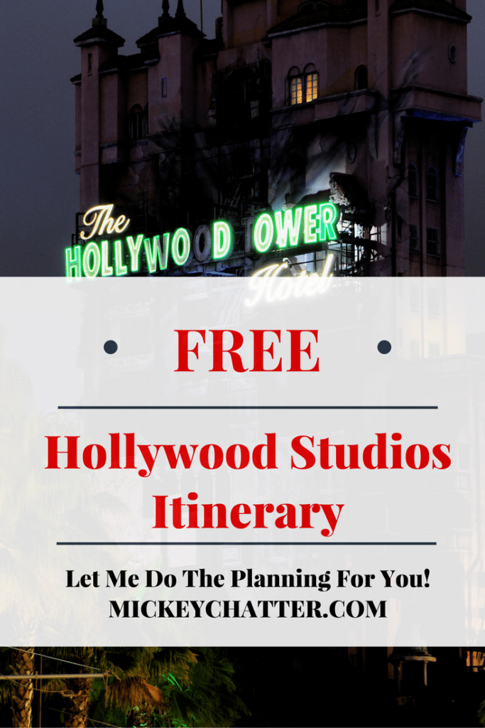 Get your FREE Disney World Hollywood Studios Itinerary
