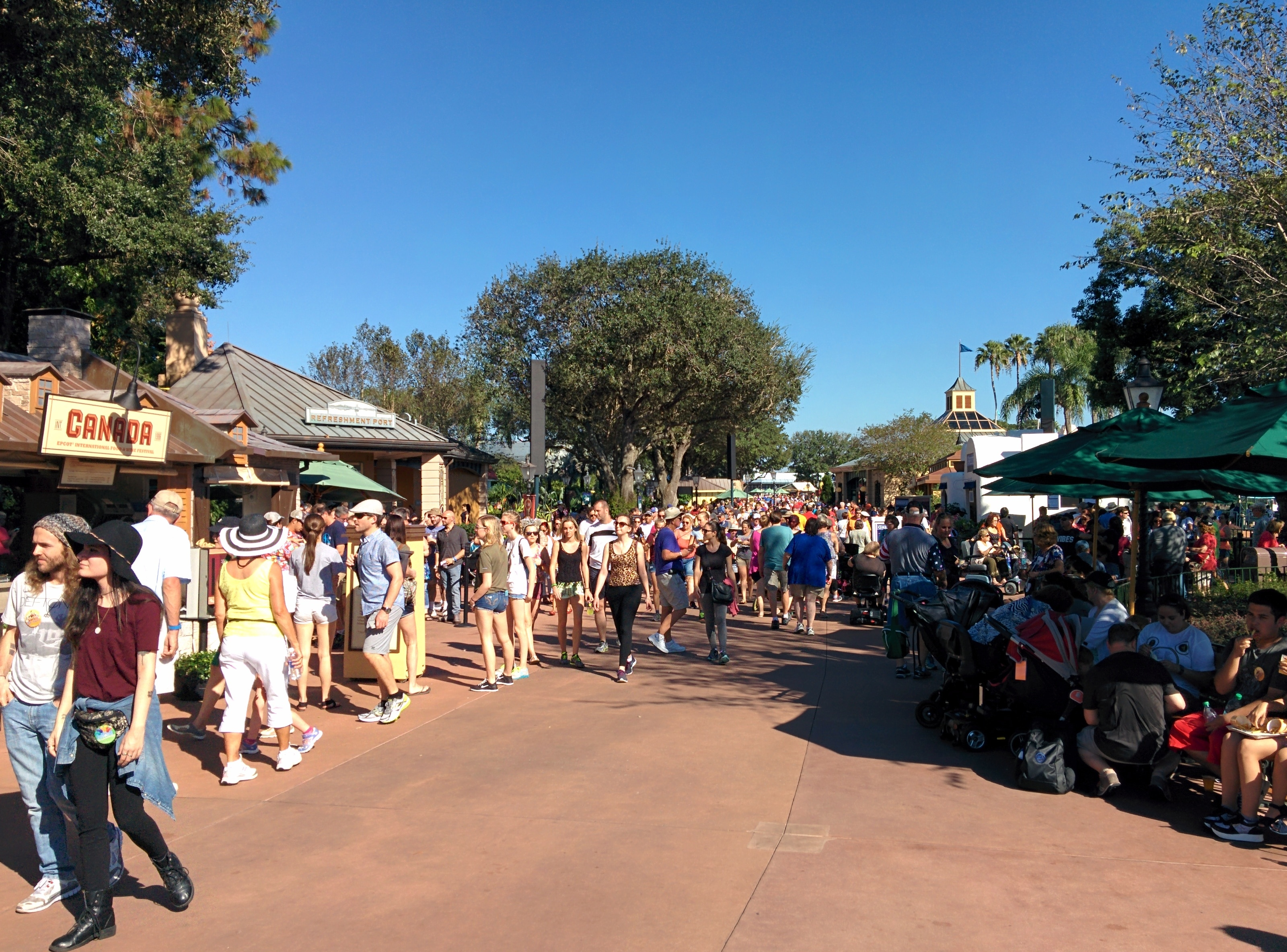 High crowds at Epcot during the food & wine festival