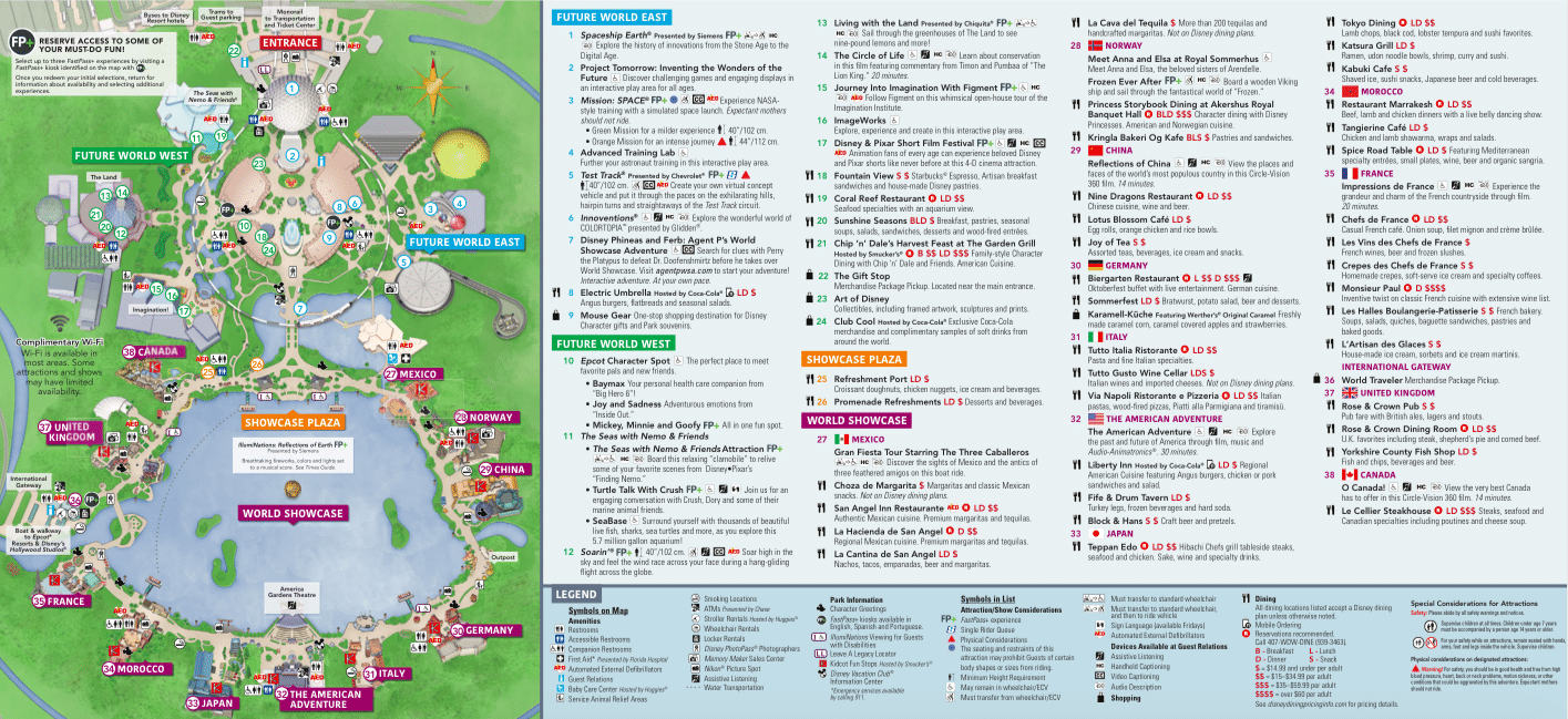 Disney Epcot Map