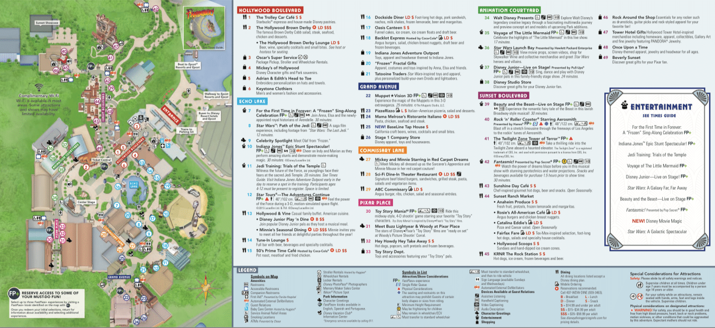 Disney Hollywood Studios Map