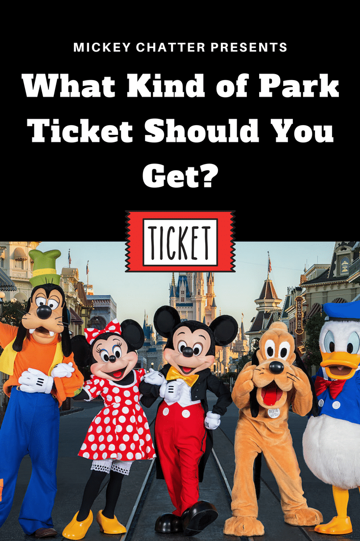 The different types of park tickets you can buy for Disney World