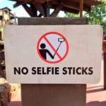 No Selfie Sticks at Disney