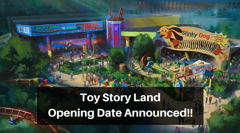 Toy Story Land Opening Date Announced