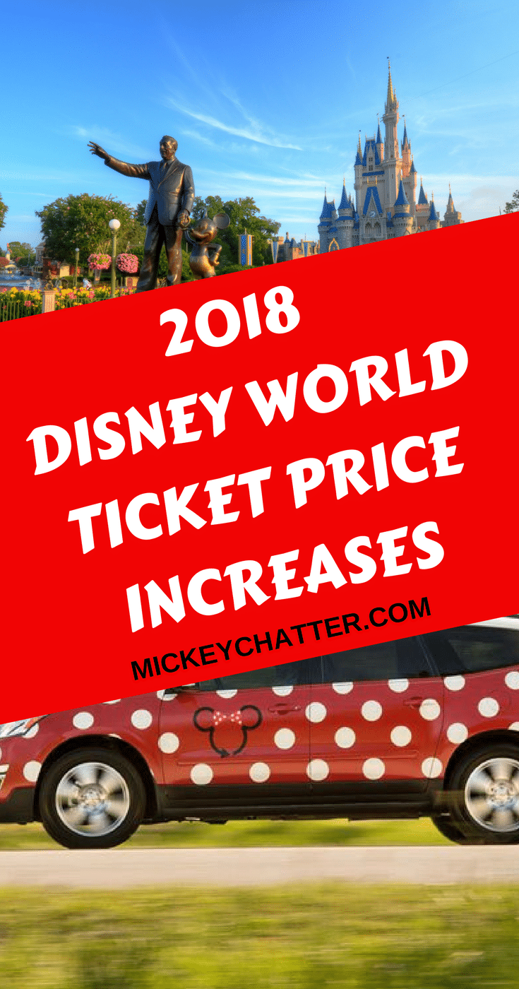 2018 Disney World price increases - all the details!