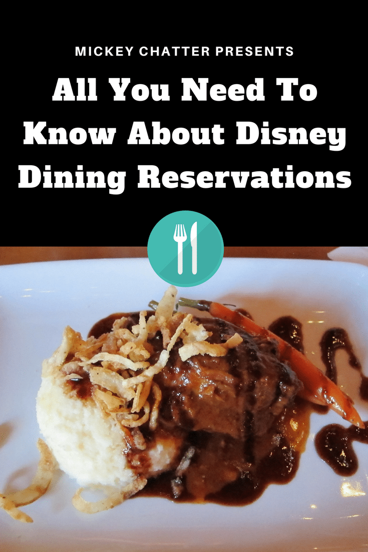 Your guide to Disney dining reservations