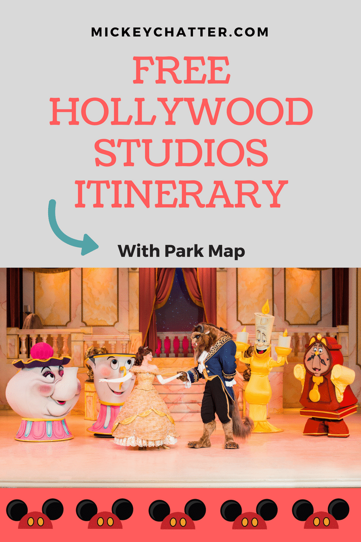 FREE Hollywood Studios Itinerary with park map - Disney World