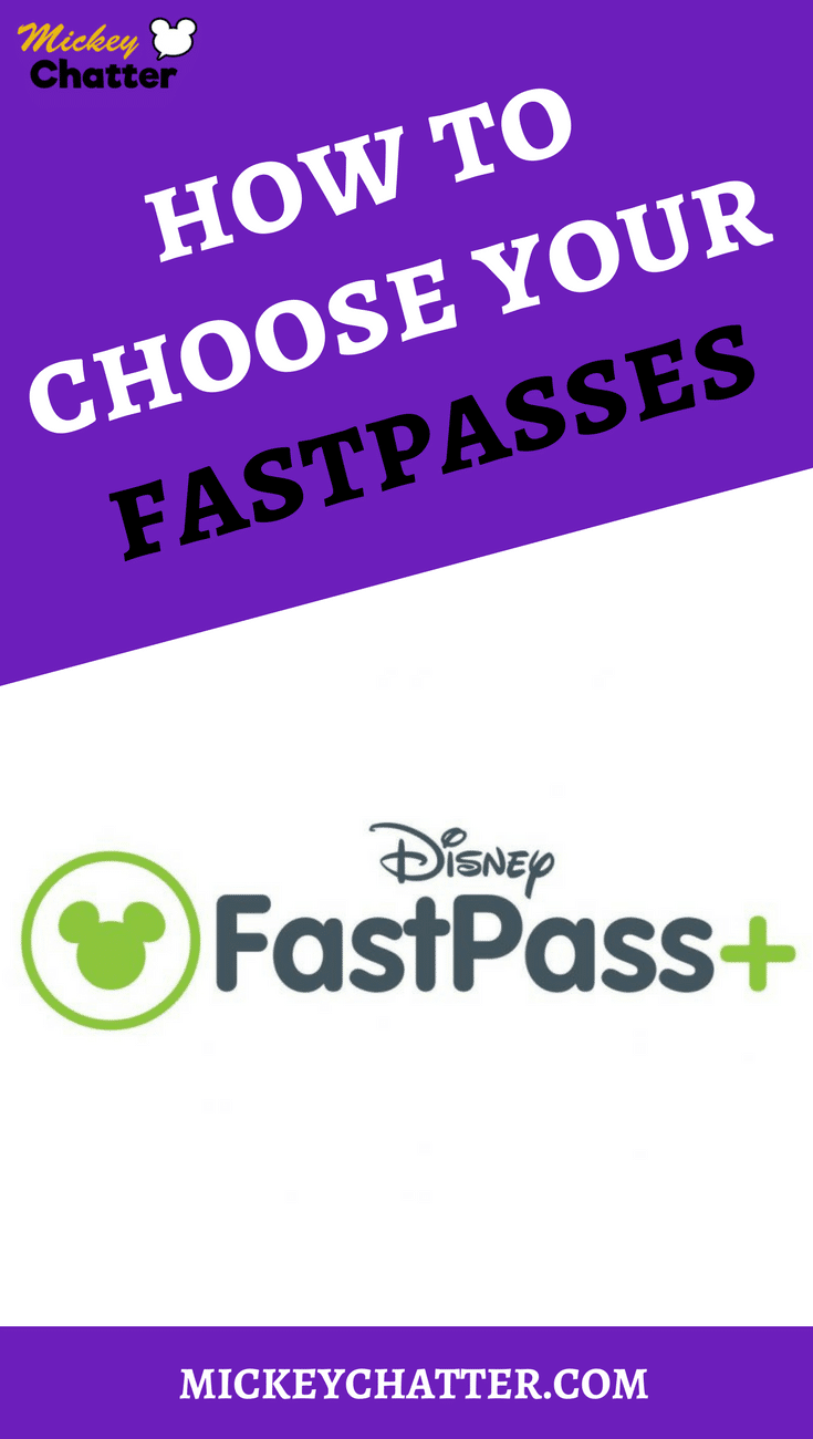 Fastpass Guide - How to choose your fastpasses for Disney World