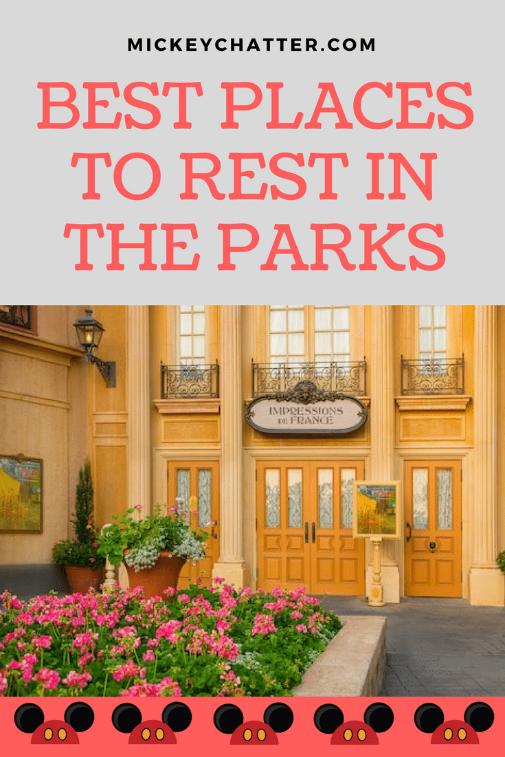 Where to rest in the Disney World parks