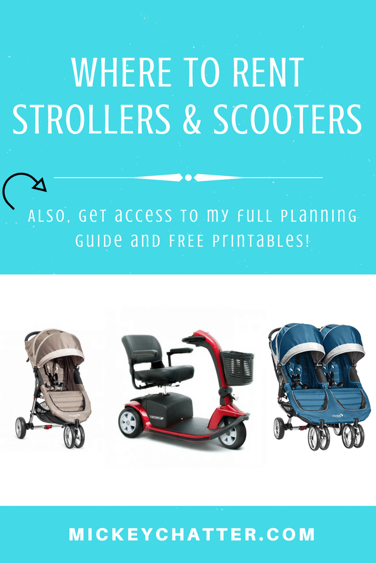 Where to rent strollers and scooters at Disney World