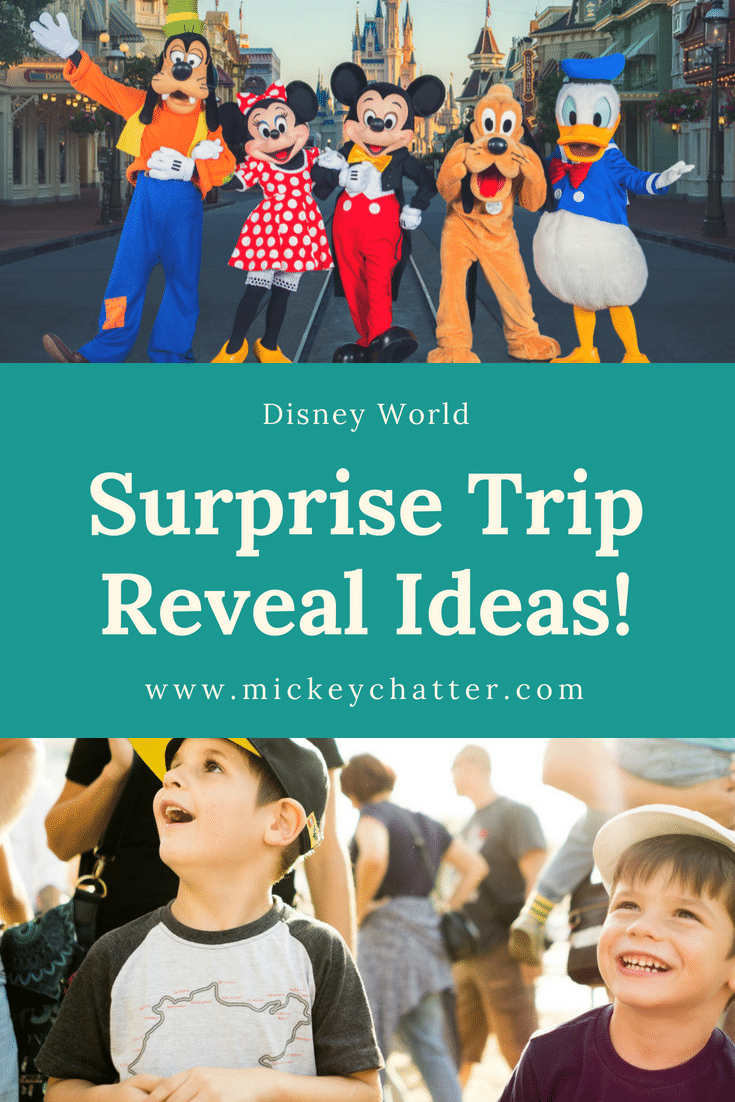 14 Ideas For Doing A Disney World Trip Reveal Surprise Mickey Chatter