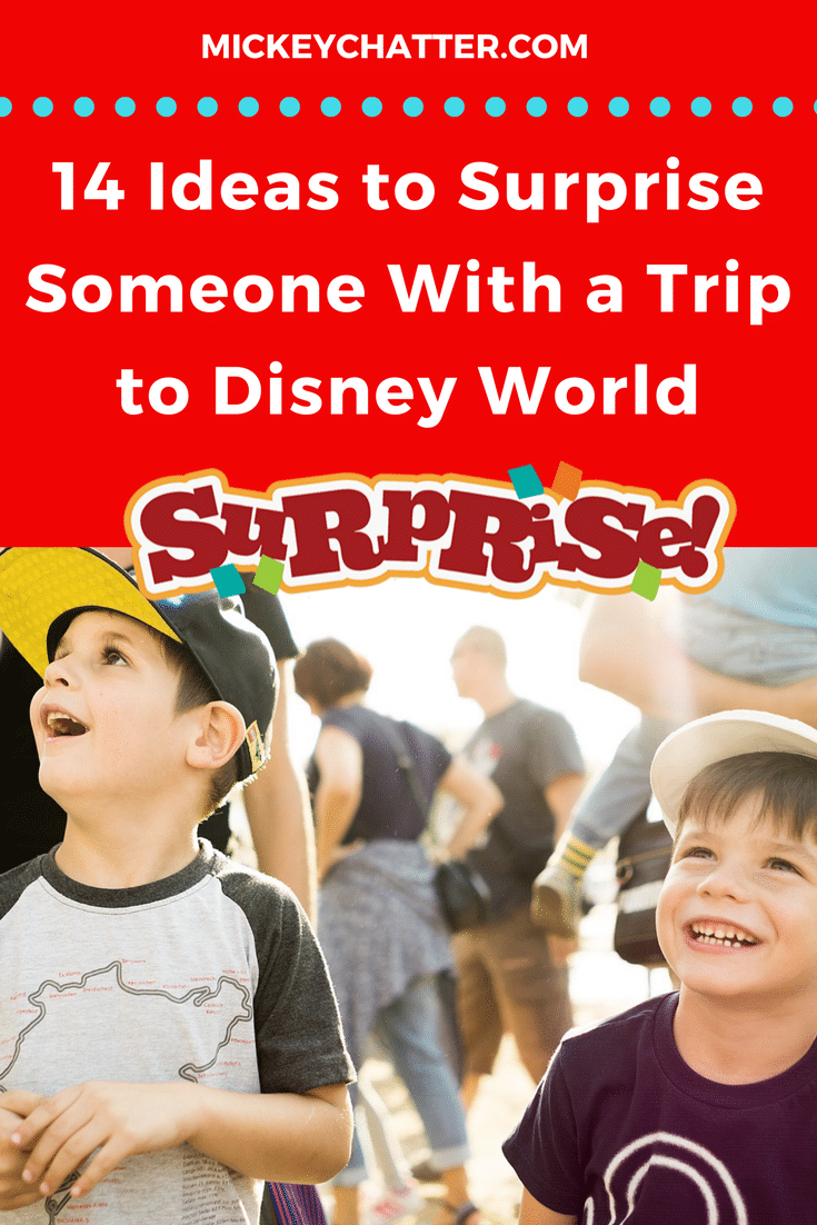 How to do a surprise Disney World trip reveal