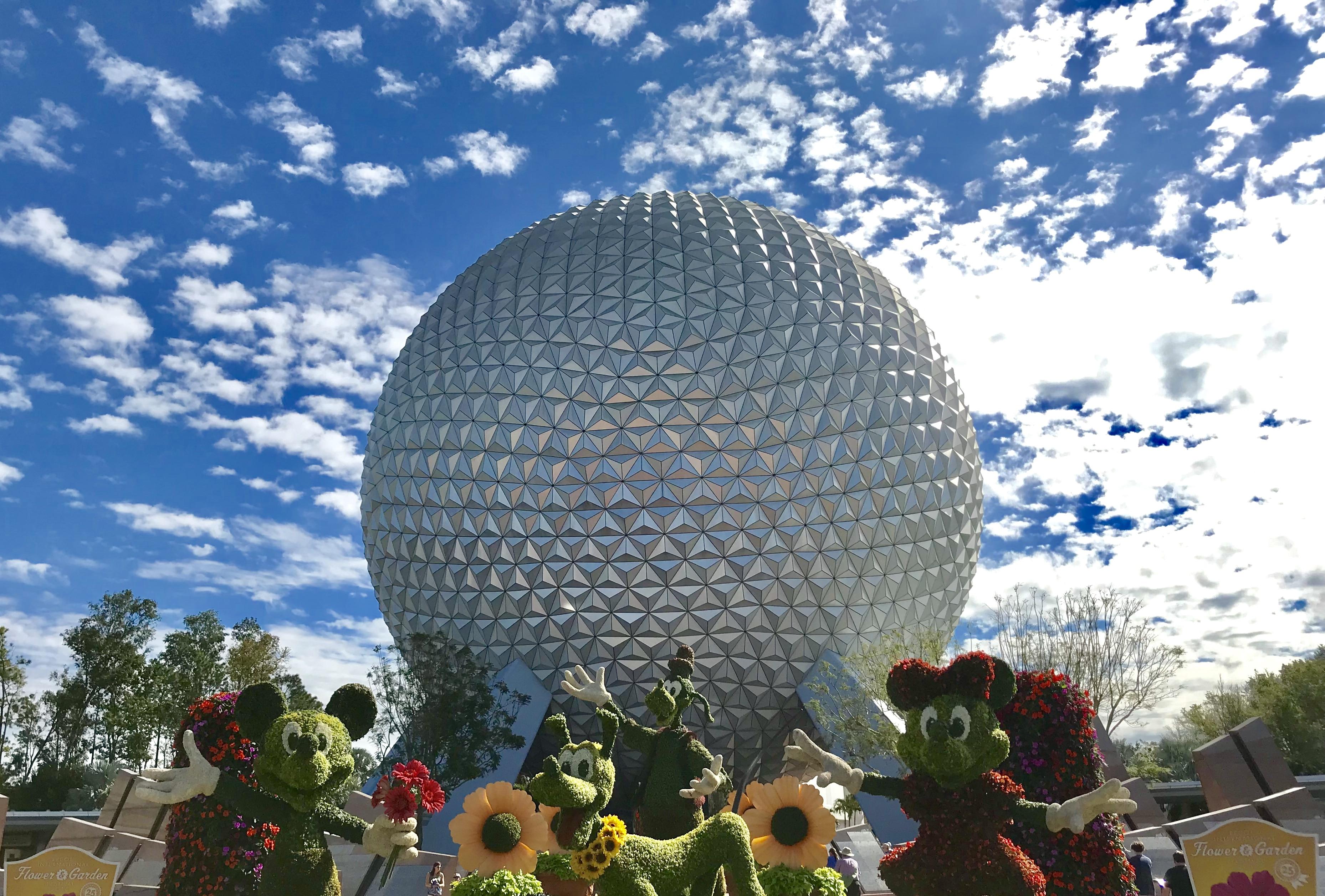 Spaceship Earth at 2018 Flower & Garden Festival