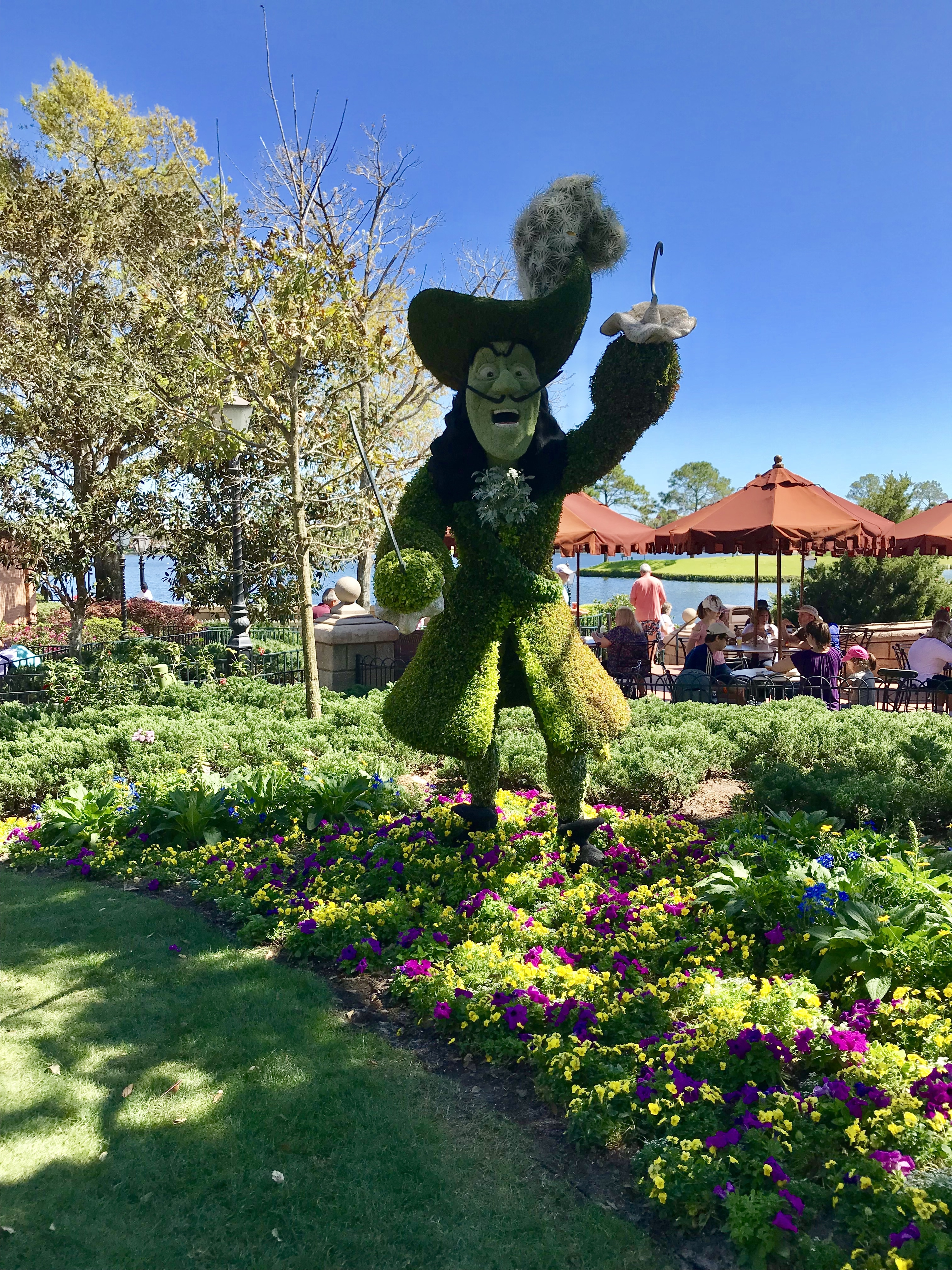 Captain Hook at Disney's Epcot Flower and Garden Festival 2018