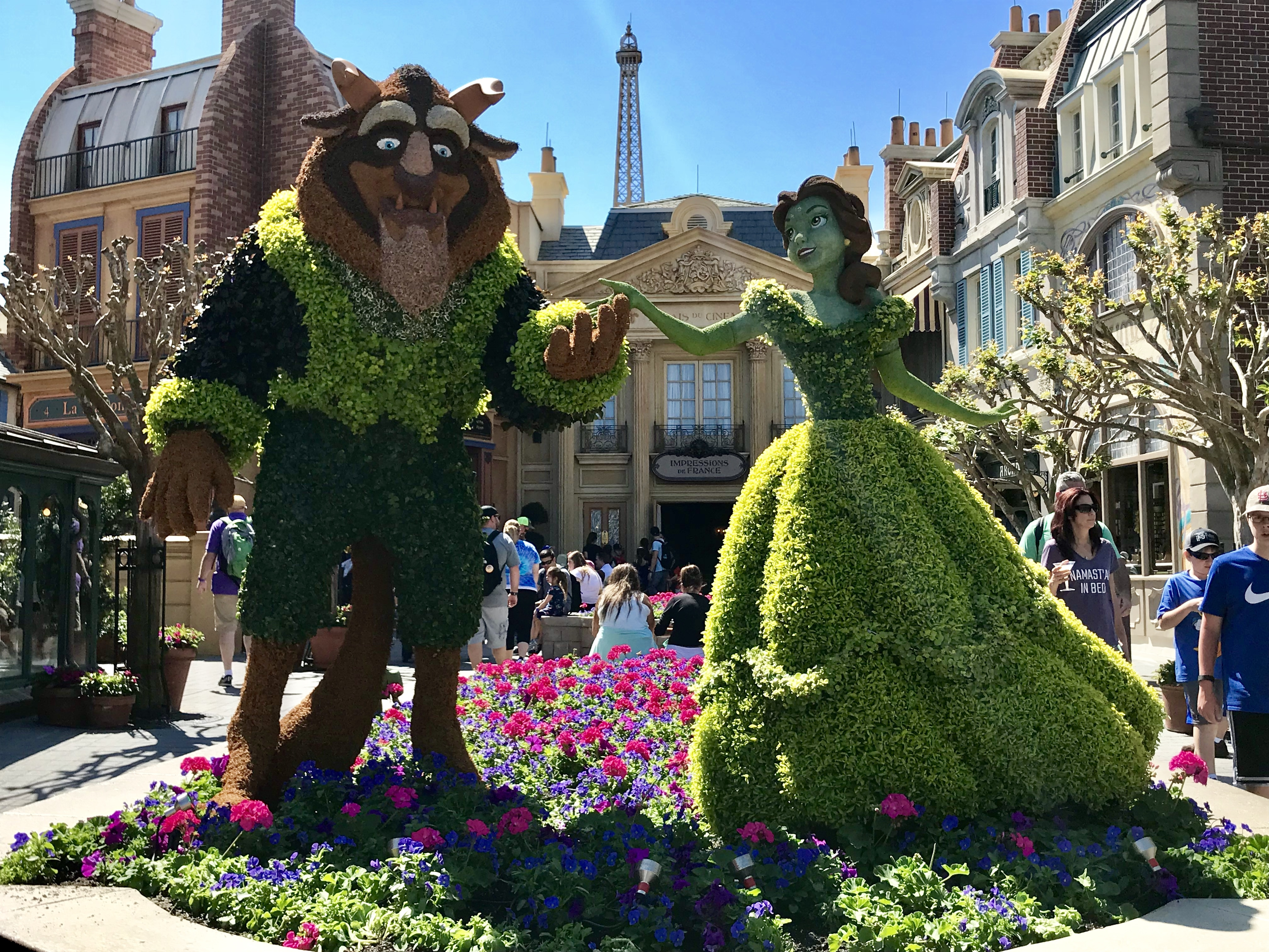 Beauty & the Beast at Epcot's 2018 Flower and Garden Festival