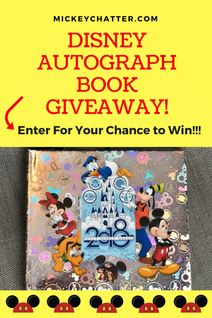 Enter for your chance to win a 2018 Disney Autograph and Photos Book!!!!
