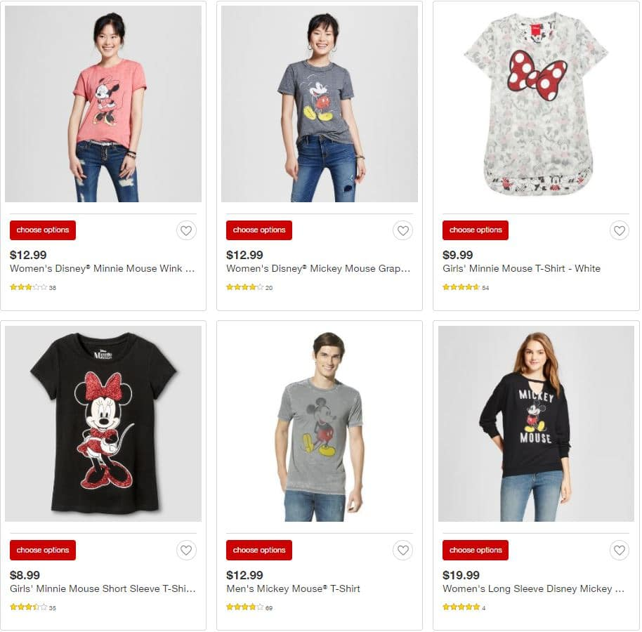 Disney Clothing at Target