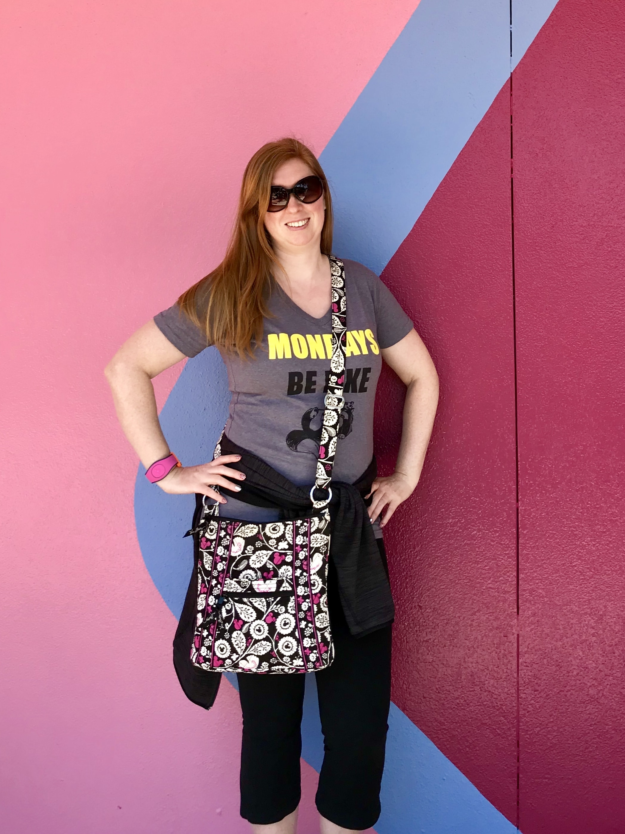 My Vera Bradley Hipster bag that I like to use as my Disney park bag
