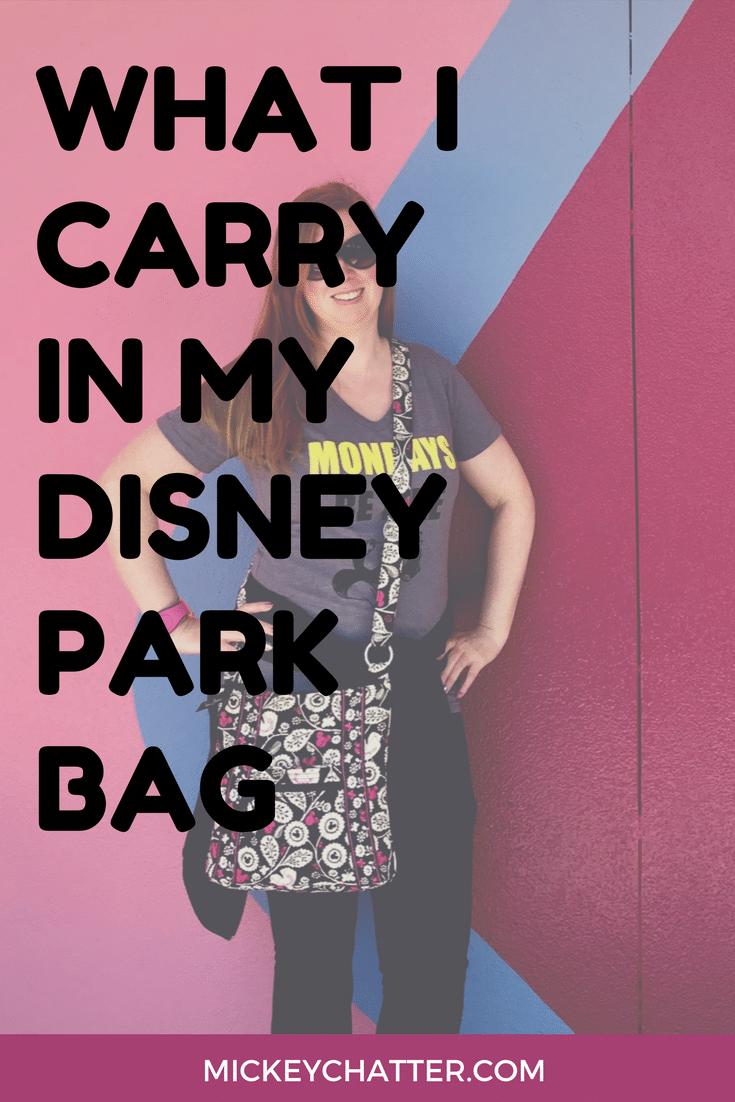 Find out what I carry in my Disney park bag! #disneyworld #disneyparkbag