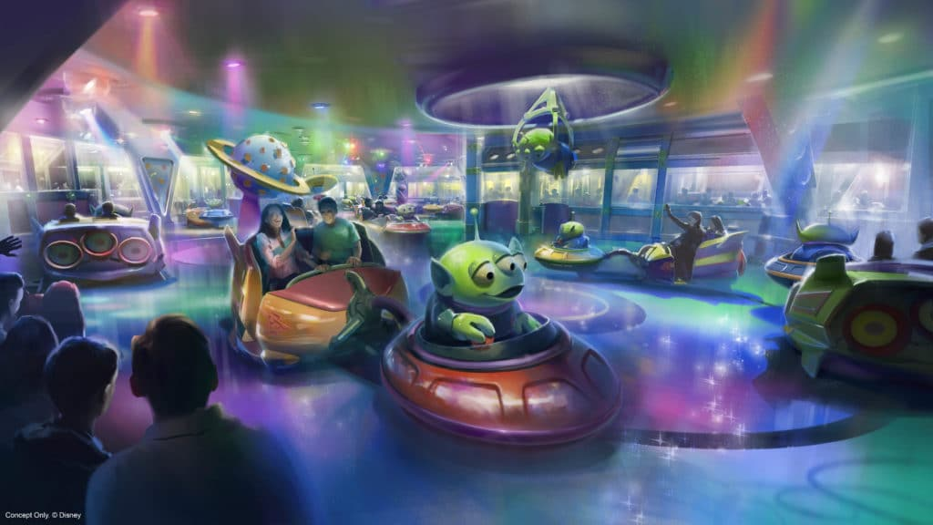 Alien Swirling Saucers at Hollywood Studios Orlando