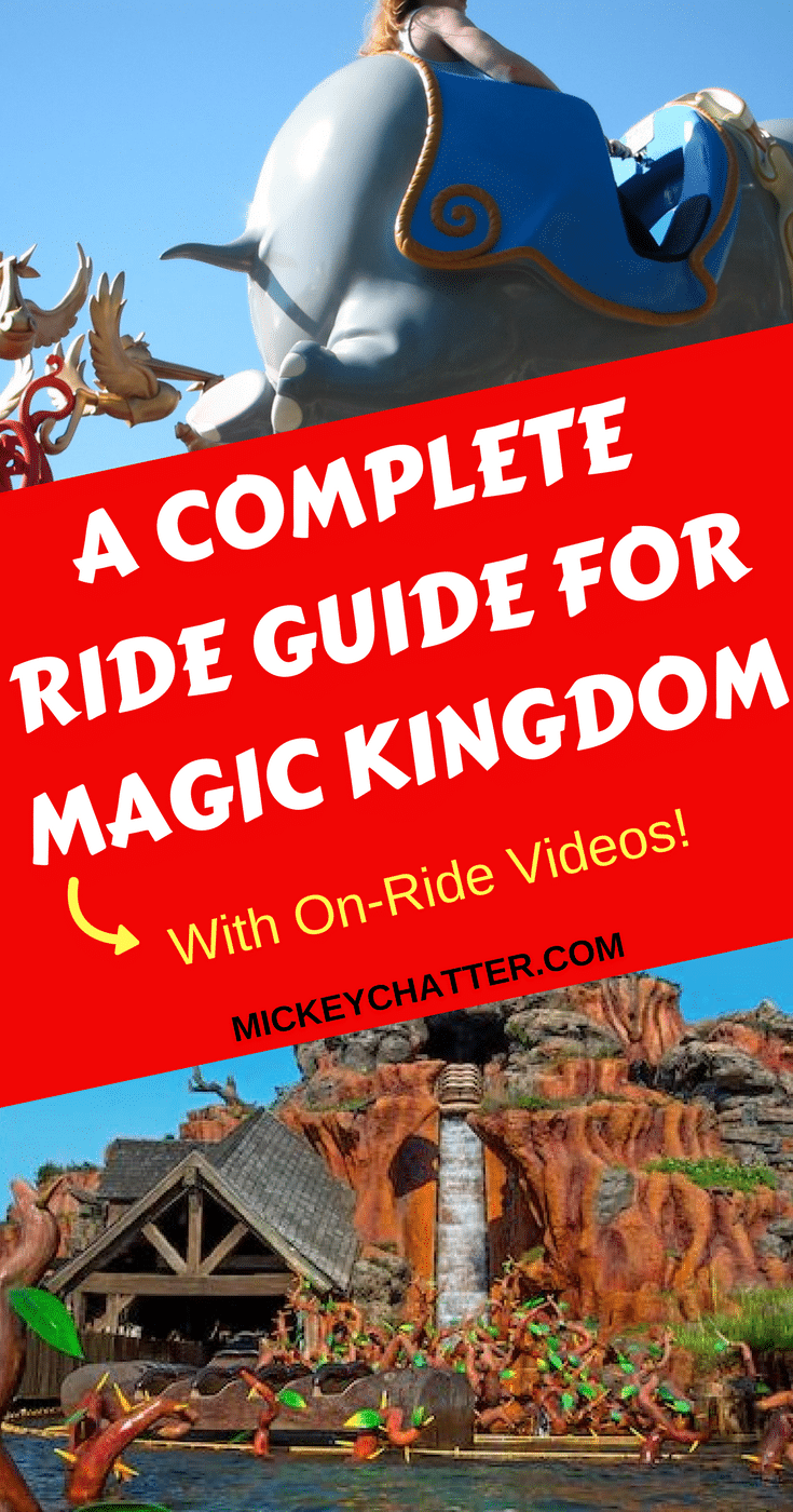A complete guide for every ride at Magic Kingdom, with on-ride videos! #disneyworld #disneyrides #magickingdom #disneyvacation #disneyplanning