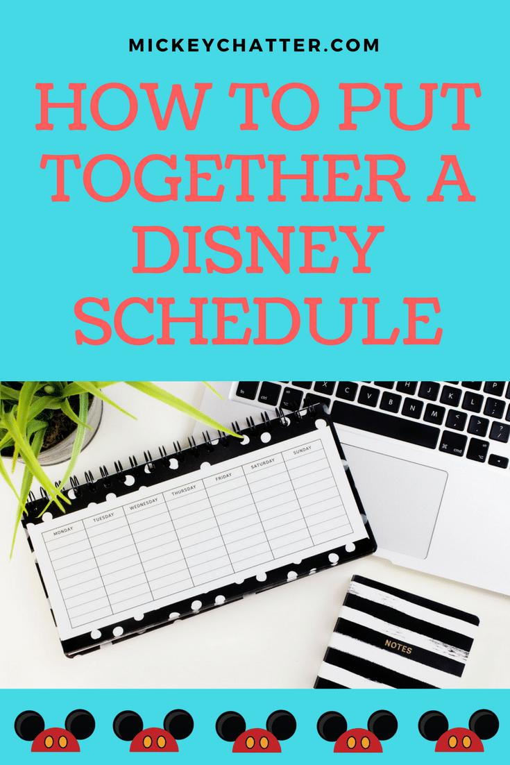 How to plan a schedule for your visit to Disney World Orlando #disneyworld #disneyplanning #disneyvacation