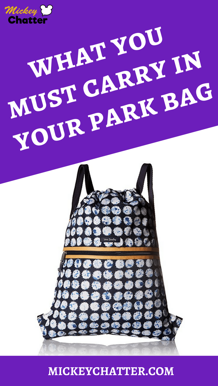 Find out what you should carry in your Disney park bag! #disneyworld #disneyparks #disneyplanning #disneyvacation