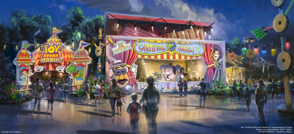 Toy Story Mania Entrance for Toy Story Land