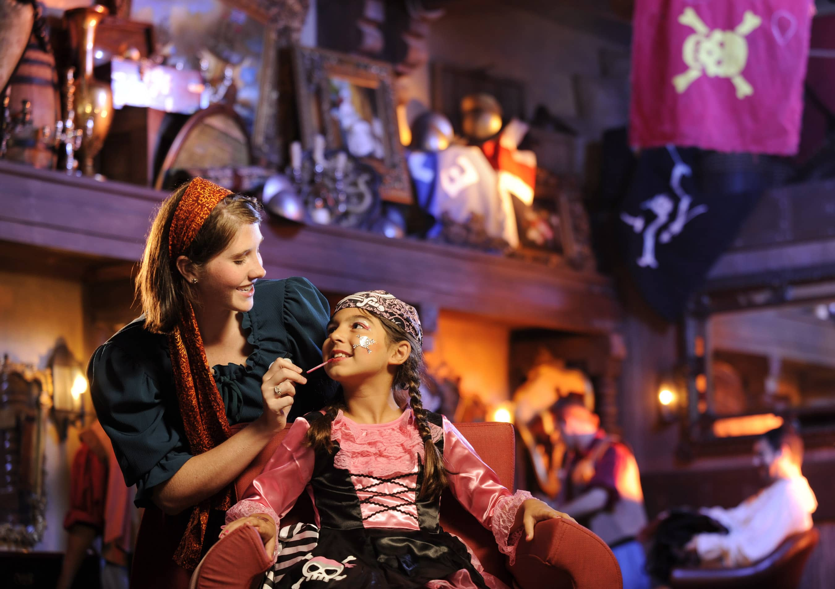 Get a pirate makeover at Magic Kingdom to celebrate a birthday at Disney World