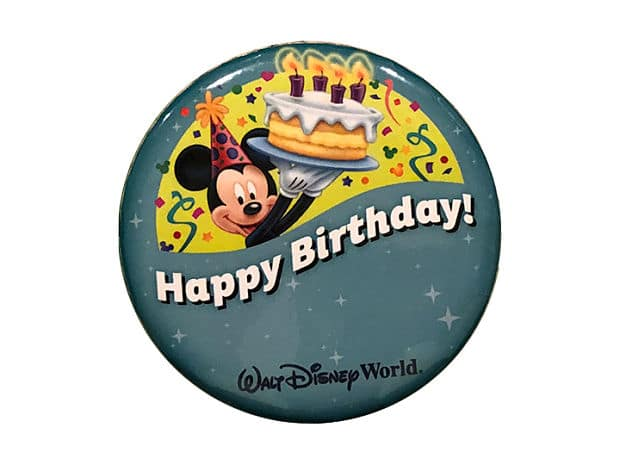 Disney birthday celebration button