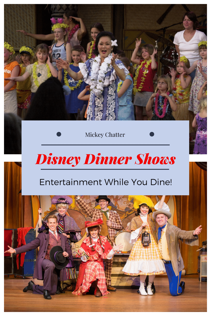 Find out about all the entertaining Dinner Shows you can reserve while vacationing at Disney World! #disneyworld #disneyvacation #disneyfood