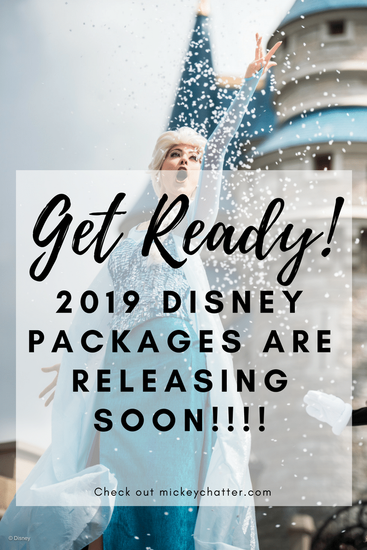 Be ready for when the 2019 Disney vacation packages get released! #disneyworld #disneyvacation #disneyplanning #disney2019