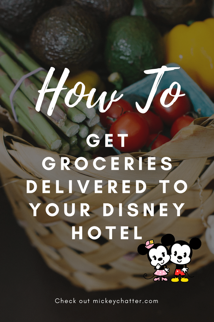 How to get Disney grocery delivery service right to your hotel! #disneyworld #disneygroceries #disneyvacation #disneyplanning