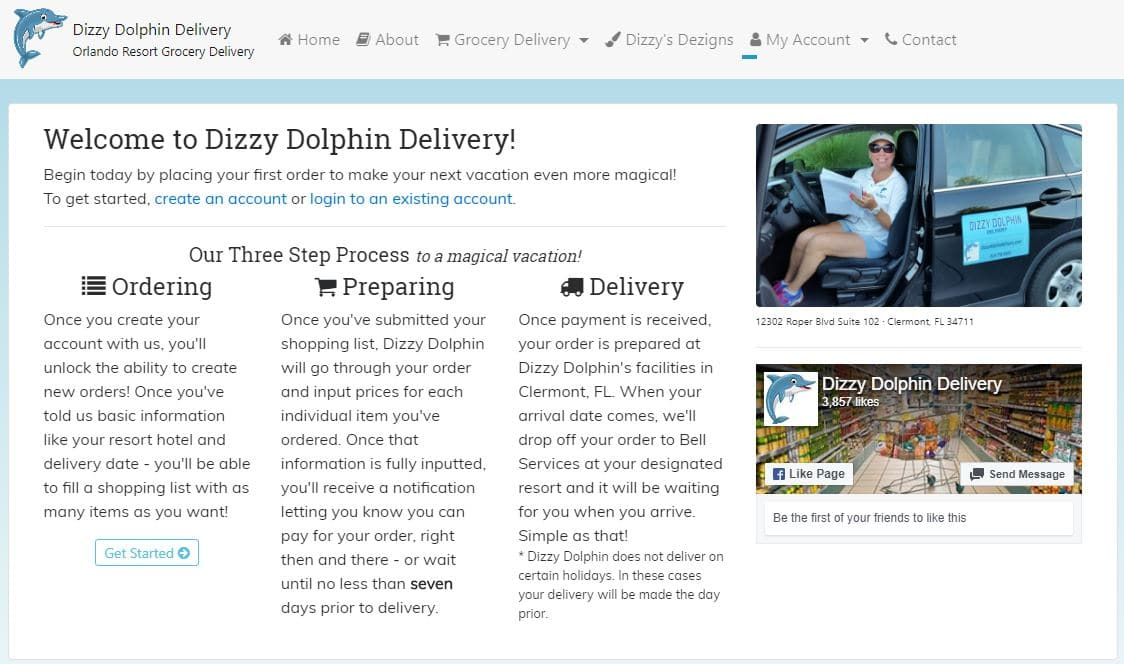 Dizzy Dolphin Disney grocery delivery service