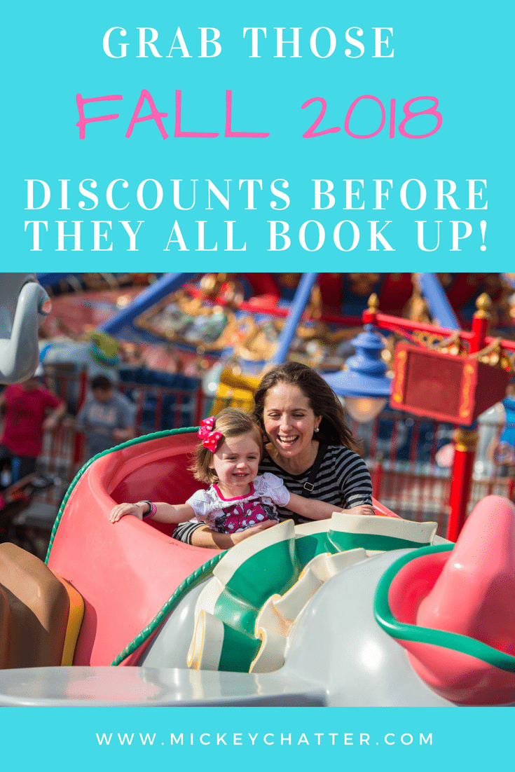 Fall 2018 Disney discount rooms are booking up quickly. Book now before there is no availability left! #disneyworld #disneytrip #disneyvacation #disneyplanning #disney2018