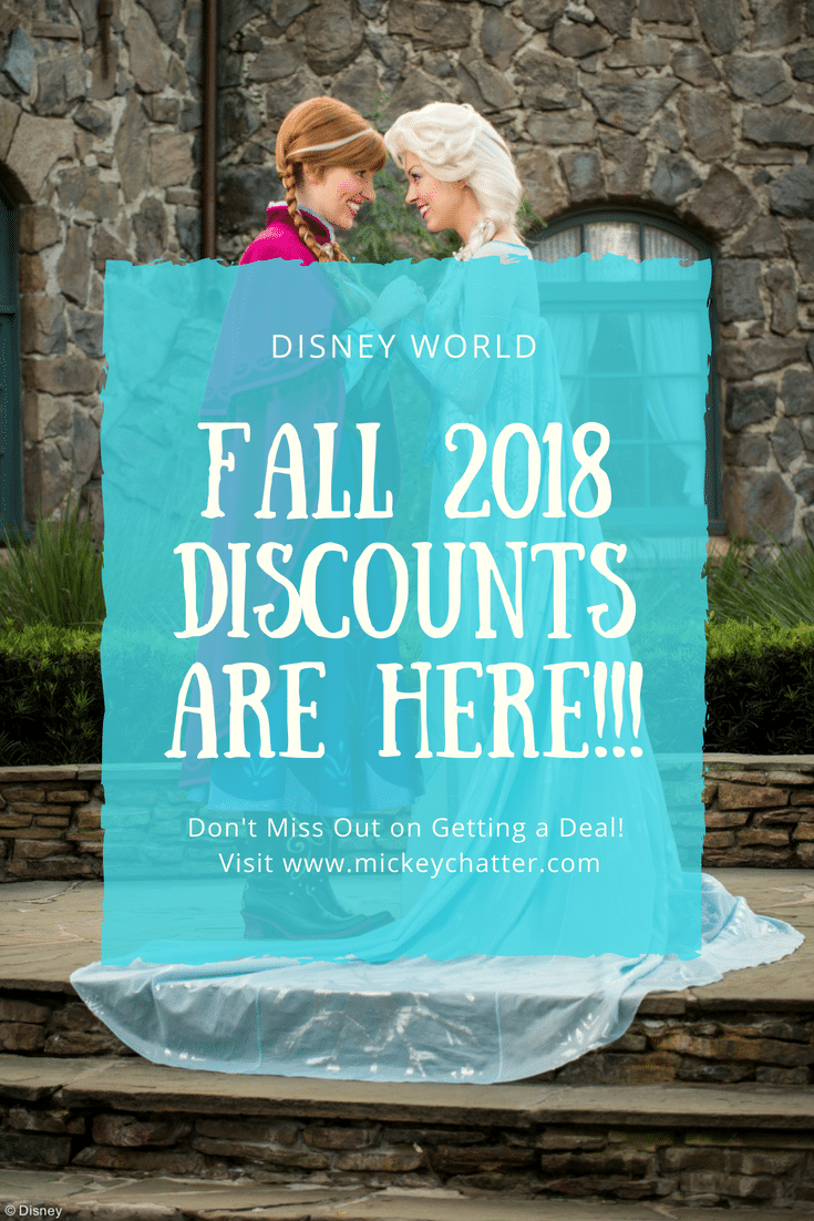 The Fall 2018 Disney discounts are here, don't miss out on a great deal!!!! #disneyworld #disney2018 #disneyplanning #disneyvacation