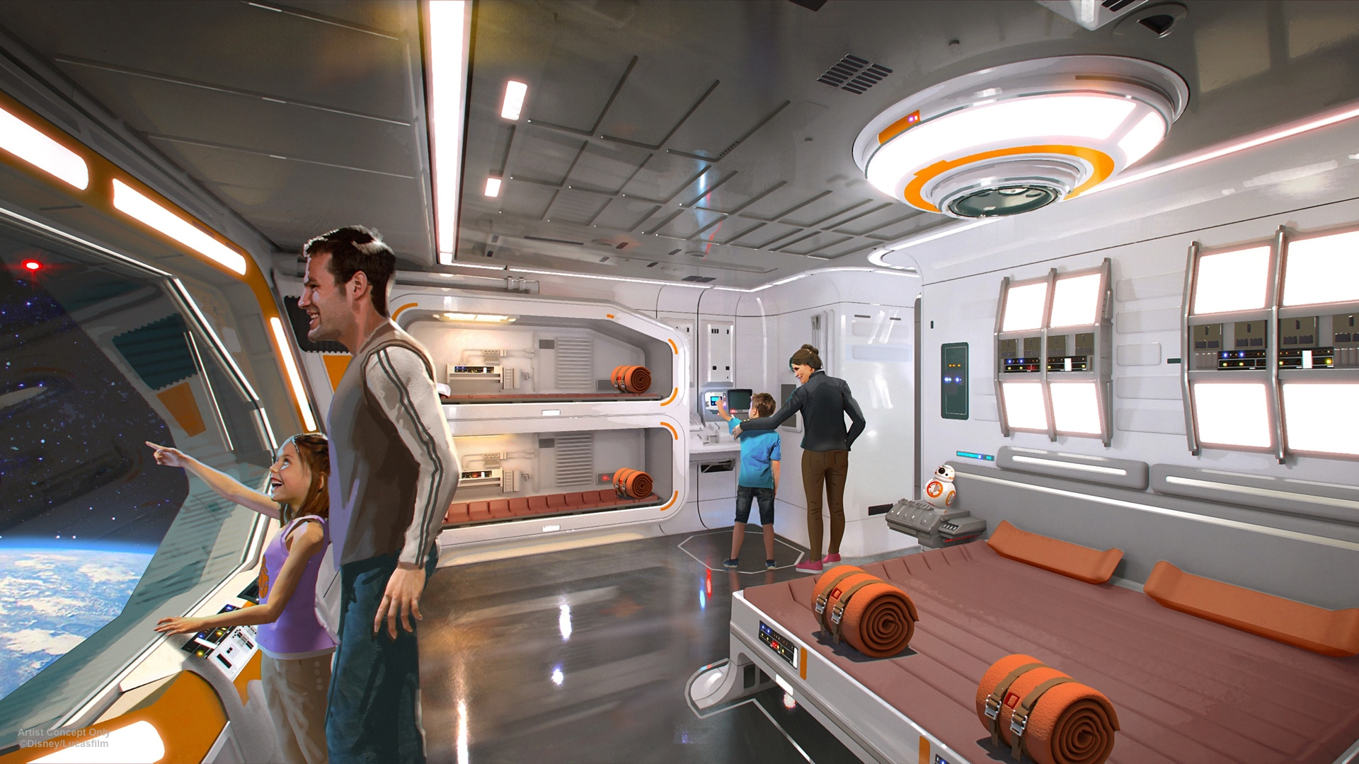 A Disney Star Wars hotel with a view in to space
