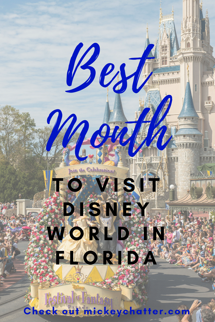 Figure out what is the best month to visit Florida for your Disney World vacation! #florida #disneyworld #floridaweather #disneytrip #disneyvacation #disneyplanning