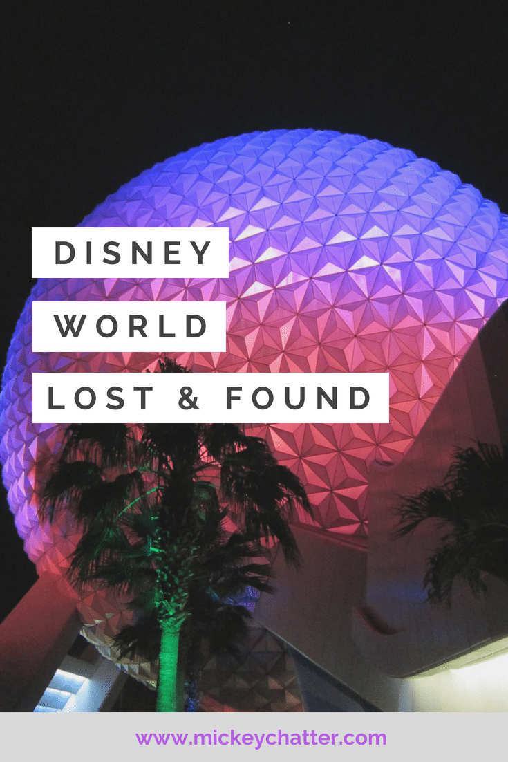 Disney World lost and found - know how it works so you are prepared in case you lose something in the parks! #disneyworld #disneytrip #disneyvacation #disneylostandfound